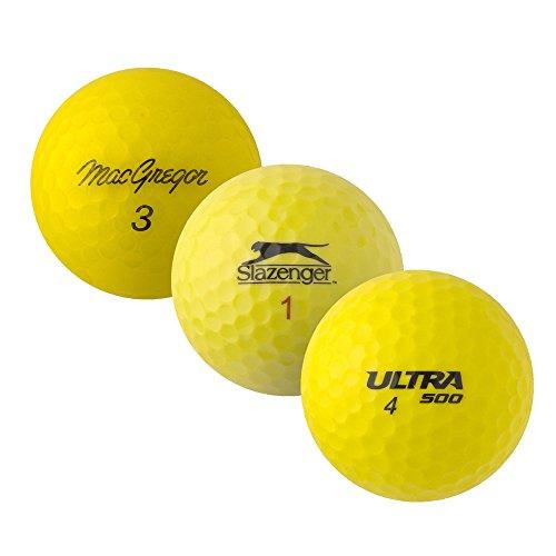 PearlGolf 25 Marken Mix - AAAA-AAA - gelb - Lakeballs - gebrauchte Golfbälle