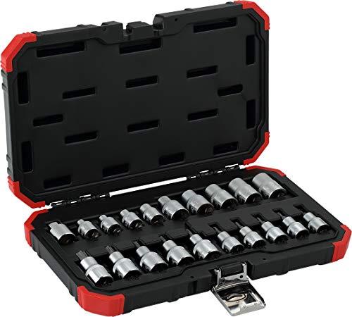GEDORE red R68003020 Steckschlüssel-Satz 3/8″ + 1/2″ TX 20-teilig