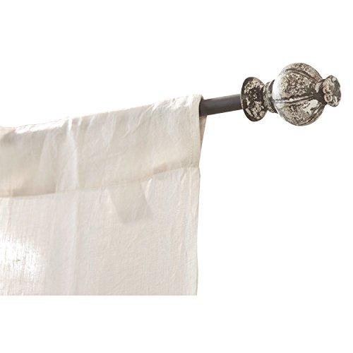 gardinenstangen eisen antik Loberon Gardinenstange Névian, Eisen, B/Ø ca. 224/6 cm, grau