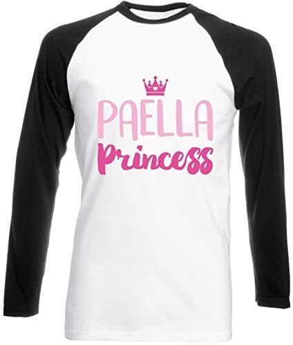 Hippowarehouse Paella Princess Unisex Long Sleeve Baseball Two Tone t-Shirt