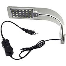 LoveOlvidoE Lámpara de Clip Flexible para Acuario de Alto Brillo Acuario de Peces Lámpara de Clip