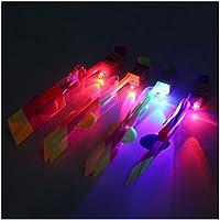 honeysuck 8pcs partido diversión regalo luz LED Flecha Helicóptero cohete volador juguete