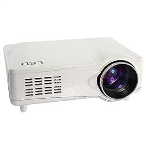 PAL HD 1080P Projecteur LED Projecteur 3D pris en charge VGA / AV / HDMI / USB / SD / TV 2200LM