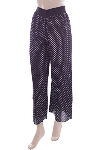New Ladies Black Polka Dot Palazzo Trousers. Size 6-8
