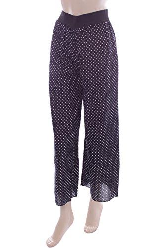 New Ladies Black Polka Dot Palazzo Trousers. Size 6-8