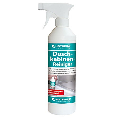 Hotrega H160470 Duschkabinen-Reiniger, Spezialprodukt zur mühelosen Entfernung von Kalk, Seifen und Shampooresten