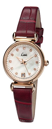 limit-womens-quartz-watch-with-white-dial-analogue-display-and-red-pu-strap-694901