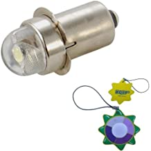 HQRP Bombilla de alta intensidad 3W Bi-Pin 3W 60 l/úmenes para linterna 1 AAA Maglite Solitaire V0.0