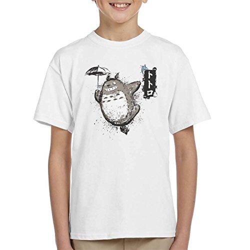 Totoro Flying With My Neighbor Kid's T-Shirt
