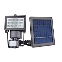 60 Led Solar Light Sensor Security Garden Light PIR Motion Sensor Path Wall Lamps Outdoor Emergency Lamp