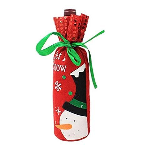 Coaster Home Garten Party Decor Weihnachtsmann Flaschentasche Flaschentüte Weihnachten Geschenktüte für Wein Sekt