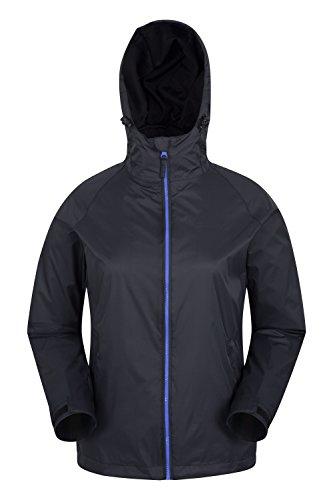 Mountain warehouse torrent 2 rivestimento delle donne - cappotto leggero da donna, impermeabile antipioggia, giacca con cuciture nastrate - ideale per i viaggi nero 44