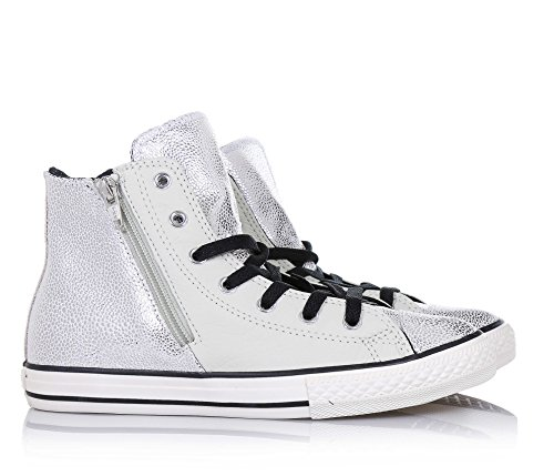 Converse All Star Hi Side Zip Leather - 655161c - Grigio