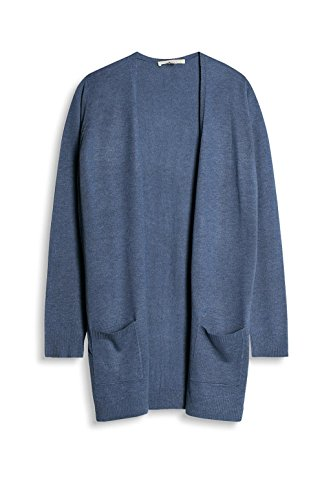 ESPRIT Damen Strickjacke Blau (Grey Blue 4 423)