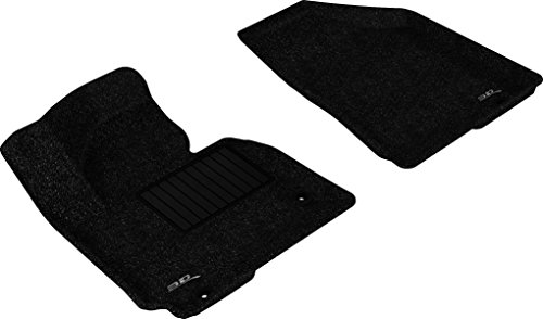 3d MAXpider Front Row Custom Fit Floor Mat for select / SPORTAGE/Tucson Models - Classic Carpet (Black)