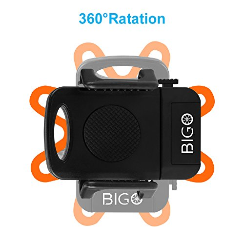 2 Bandes antid/érapantes pour Smartphone GPS et Autres appareils Anti-Vibrations Support V/élo du Guidon BIGO Support T/él/éphone V/élo Moto 360 /° Safe Angle de Vue