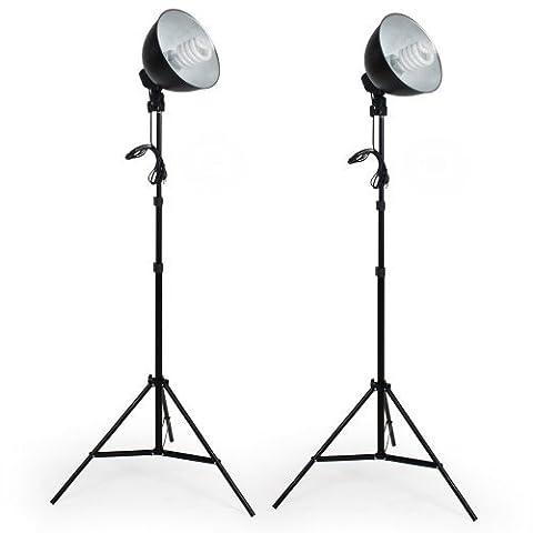 TecTake 2 x Lampe de Studio Boite lumière éclairage studio photo 5500K avec trépied pour Photo Video Flash