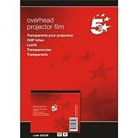 5 Star(TM) - Papel de impresión y fotocopia DIN A4 poliéster 0,10 mm (100 unidades), color transparente