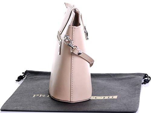 Italienisch Weichleder, Kleine Cross Body oder Umhängetasche Handtasche. Enthält eine Schutzaufbewahrungstasche. Hell Beige