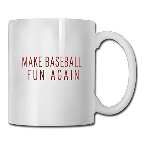 21535a4399f Funny Quotes Mug With Sayings - Make Baseball Fun Again Baseball Snapback  Cap Ash - Gift