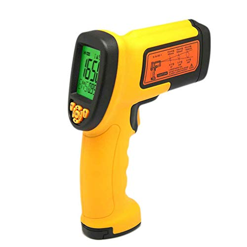 AS882 Berührungslos Pyrometer LCD-Display 50: 1 Digital-IR Infrarot-Temperatur Tester -18~1650 Grad Thermometer ()