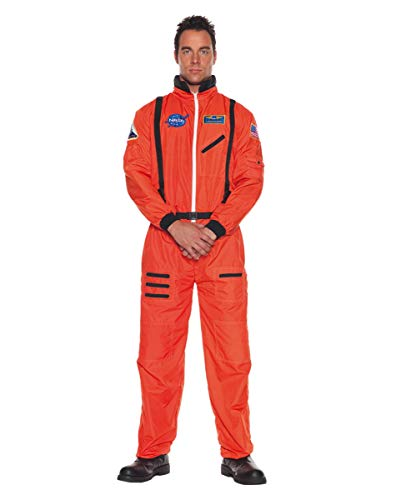 Horror-Shop Oranger NASA Astronauten Kostüm-Overall als Berufskostüm & Uniform