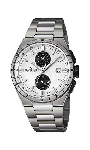 candino mens chronograph quartz watch with titanium strap c4603/1