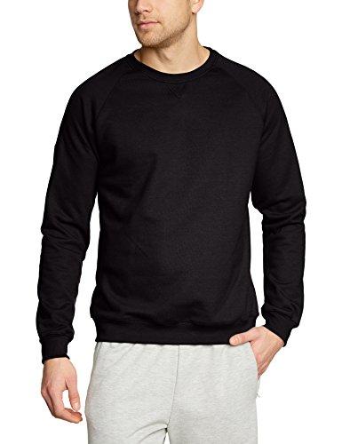Trigema Herren Sweatshirt 675501, Einfarbig, Gr. Large, schwarz (schwarz 008)