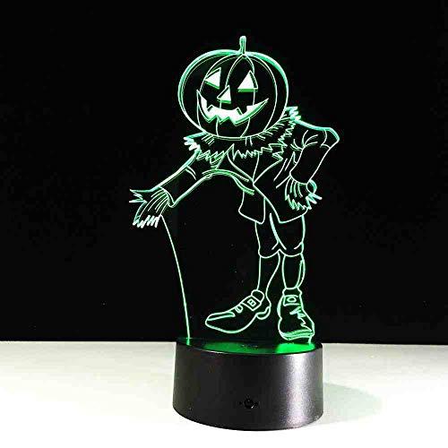 Kostüm Illusion Baby - RJGOPL halloween Kostüme Kürbisse 3D Nachtlicht Visuelle Led Usb Schreibtisch Tischlampe Für Hauptatmosphäre Lampe Baby Schlaf Beleuchtung
