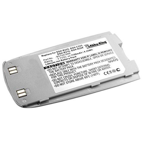 Akku King Li-Ion für Samsung SGH-C225 SGH-R208 SGH-R210 SGH-R220 SGH-R225 SGH-R514 - ersetzt BST0579NE - 1150mAh silber