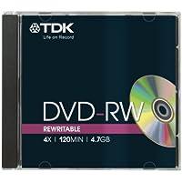 TDK DVD-RW 4.7GB 2x-4x wiederbeschreibbar in Jewel Case (5 Stück)