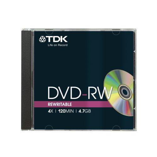 TDK T18816 4.7GB 4x Speed 120min DVD-RW Disc in Jewel Case (Pack of 5) Test