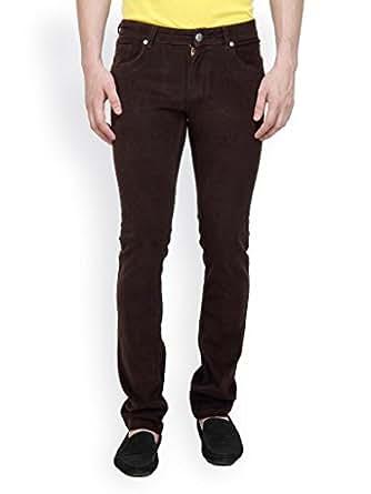 Tng New York Men's Corduroy Slim Fit Trousers (Tj7775P5_40_Brown _Brown _40)