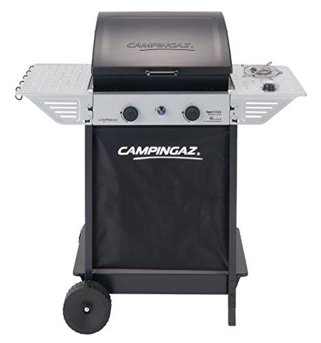 Campingaz Gasgrill Xpert 100 LS, Grillwagen mit zwei Brennern, Seitenkocher Deckel und Thermometer