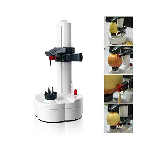 SHIOUCY Elektrischer Kartoffelschäler Apfelschäler Gemüseschäler Obstschäler Elektro Schäler für Obst & Gemüse, Mango, Birne, Karotte Obst- und Spiralschneider Slicer