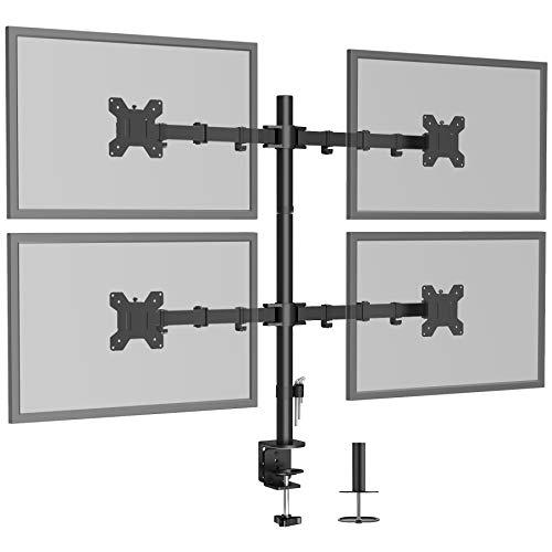 BONTEC Soporte cuádruple para Monitor de computadora y Soporte para Monitor de TV de LCD de 13