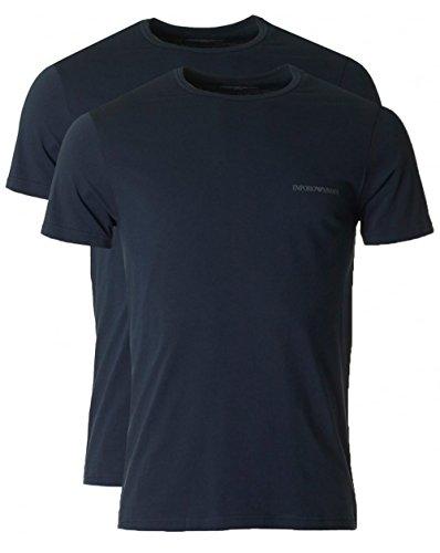 Emporio Armani Herren T-Shirt mit Rundhals-Ausschnitt 7P717111267 Black