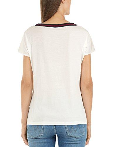 MARC CAIN SPORTS Damen T-Shirt GS 48.46 J89 Blau (Midnight Blue 395)