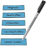 25 Bandes magnétiques laquelle il est possible d'écrire avec stylo coloris disponibles - 100 x 30 mm
