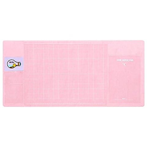 multifonction Tapis de table, Doulukit PVC pour carte Manomètre à cadran XXL clavier Tapis de souris (700* 330* 1.8MM), rose, 700*330*1.8mm