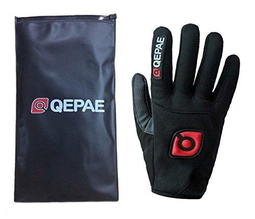 QEPAE® Rutschfeste Gel Polster Fahrrad Handschuhe Herren Damen mit dem Klettverschluss geeignet für Fahrrad Reiten Radsport Camping und mehr Sports im Freien - 2