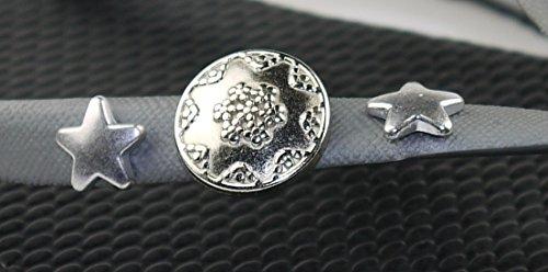 COVY'S jandals silver/black #5128 women (Zehentrenner, Sandale, DIY, Pins) Silver/Black