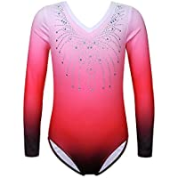 Abiti Zhhlaixing Ballet Dance Gym Gymnastics Long Sleeve Stitching Velvet Leotard Dancewear
