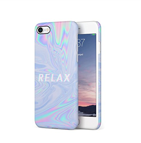 Trippy Tie Dye Rainbow Acid Relax Apple iPhone 7 / iPhone 8 SnapOn Hard Plastic Phone Protective Fall Handyhülle Case Cover (Print Screen Rainbow)