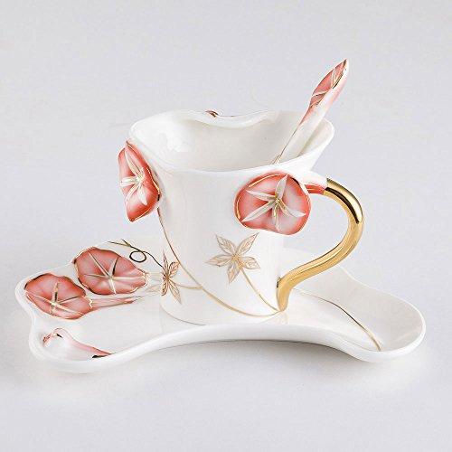 Tasse de café / Set de céramique / Personnalité simple Creative Cup / Afternoon Tea / 1 Dish 1 tasse (3 couleurs en option) ( couleur : C )
