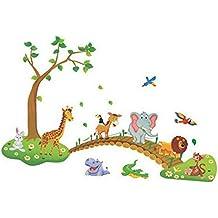 V-SOL Pegatinas del Pared Wall Stickers Animal Puente