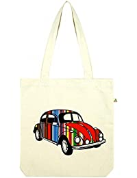 Top Quality 'Recycled' VW Beetle Shopper Tote Bag White