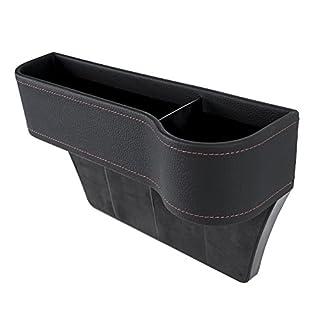 AVSUPPLY Seitentasche Organizer - Autositz Füller Lücke Raum Aufbewahrung Box Flaschenhalter Münzsammler für Cup/Handy-Halterung Getränkehalter - schwarz