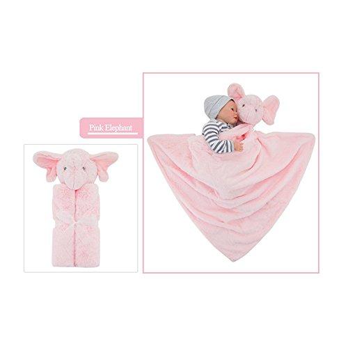 Elephant Apparel (GudeHome Babydecke Bademantel aus Mikrofaser Babyhandtuch mit Kapuze lustiges Kuscheldecke Strickdecke Kapuzenhandtuch kuscheliger PonchoKapuzenbadetuch(Pink Elephant))