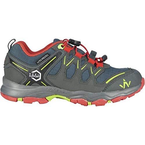 Wanabee Chaussures de randonnée Hike 300 - Enfant - Gris et Rouge 39